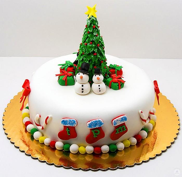 Новогодний торт корпоративный. Заказать торт с доставкой в Саратове