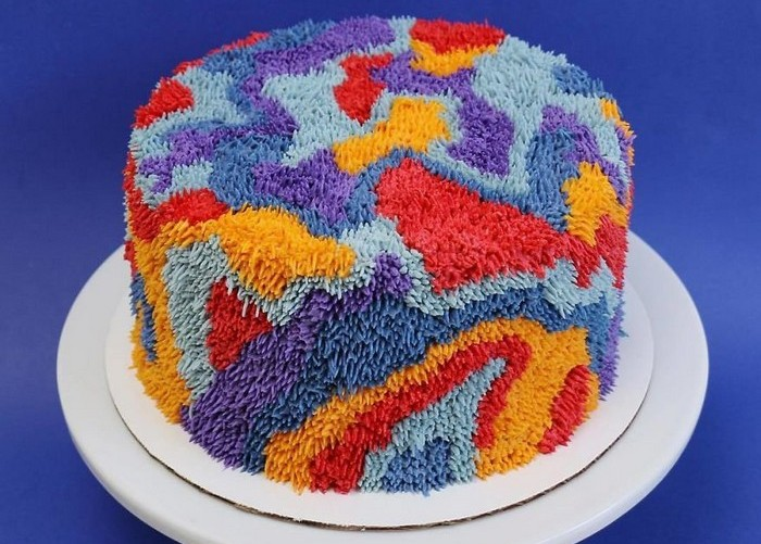 Новогодний торт-ковёр. Заказать торт с доставкой в Саратове