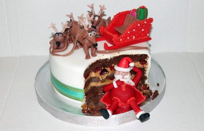 Новогодний торт Санта Клаус. Заказать торт с доставкой в Саратове