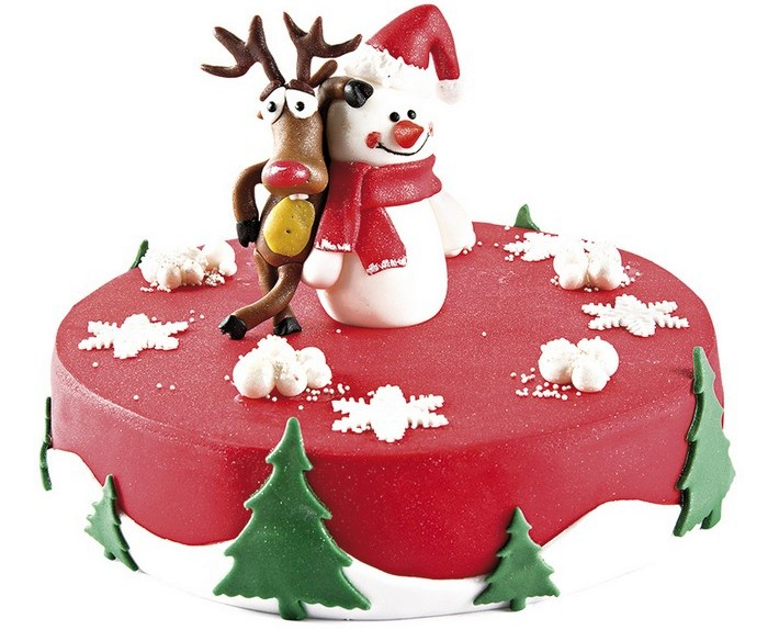 Новогодний торт Снеговик. Заказать торт с доставкой в Саратове