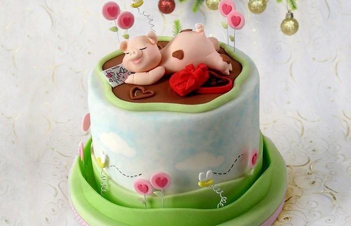 Новогодний торт с символом года. Заказать торт с доставкой в Саратове